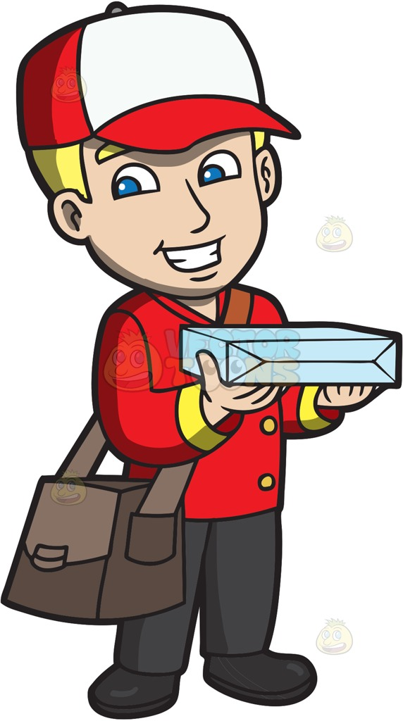 Clipart Delivery Man.
