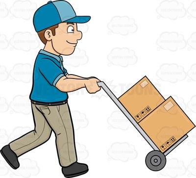Similiar Ups Delivery Man Falling Clip Art Keywords.
