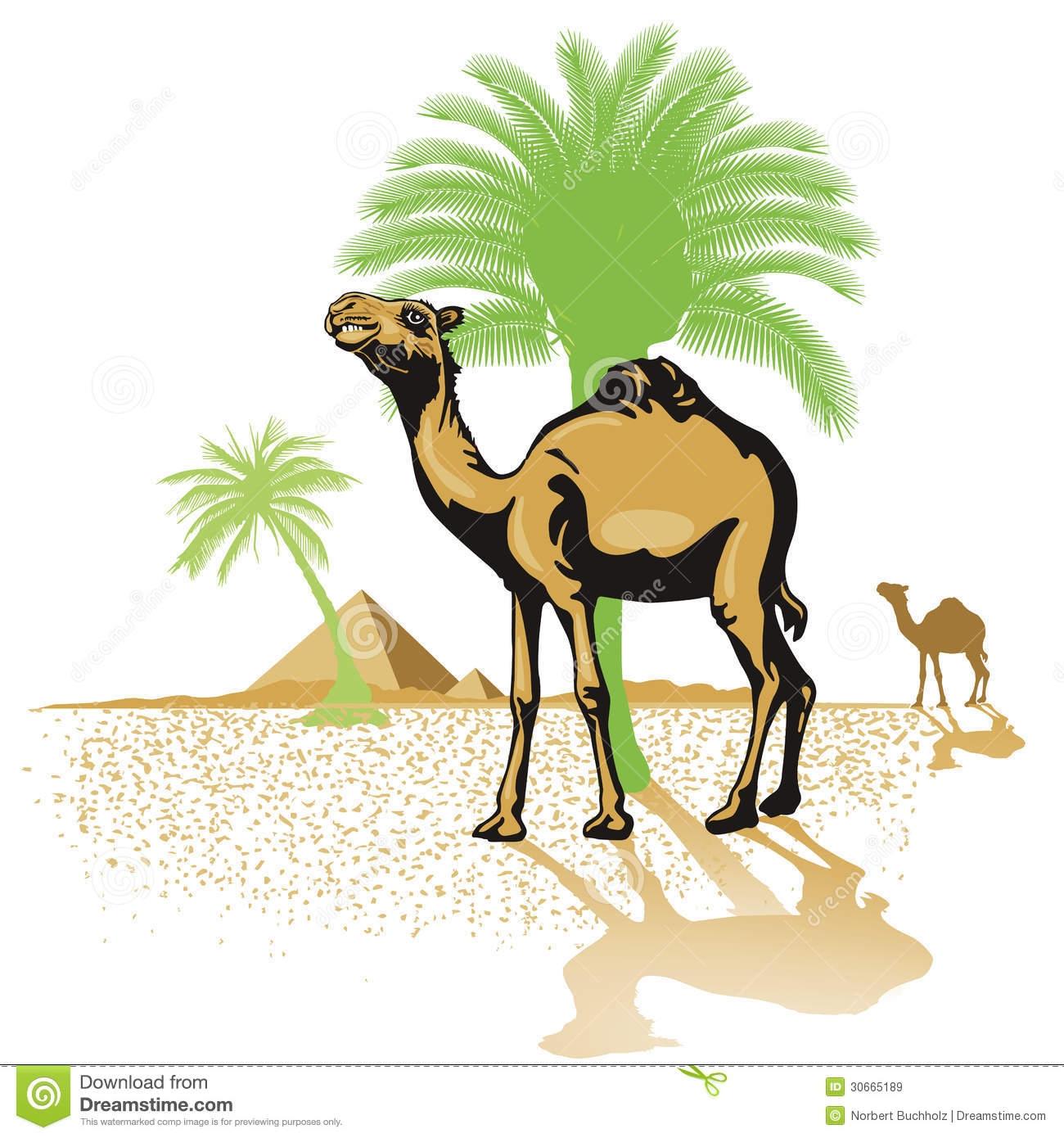 Desert Palm Trees Clipart.