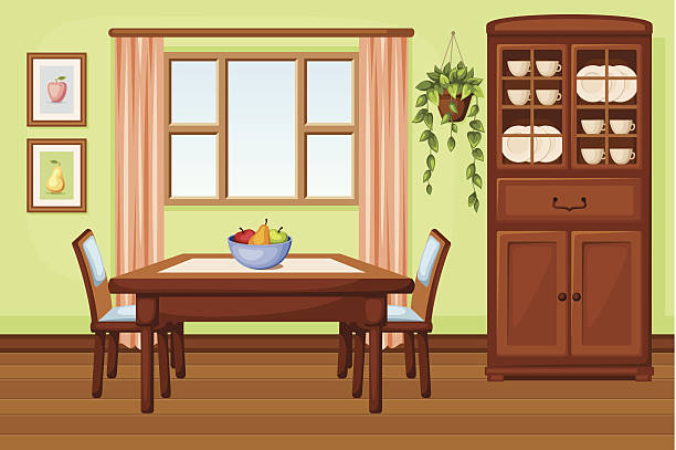 Best Dining Room Illustrations, Royalty.