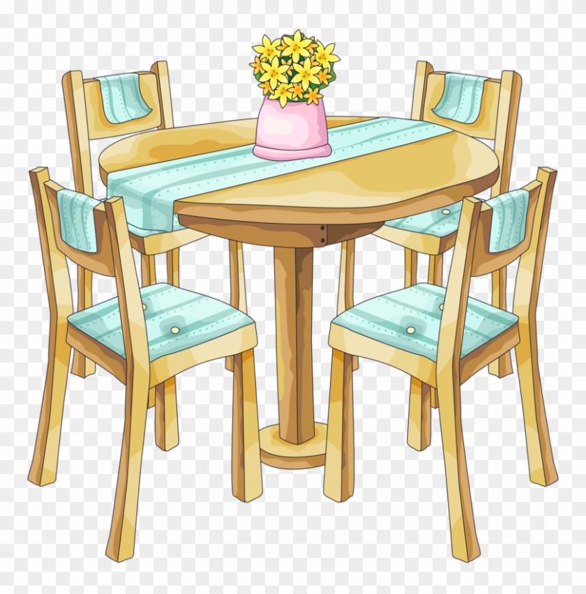 Clipart Dining Table Bg.