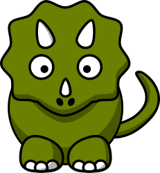 1606 Dinosaurs free clipart.