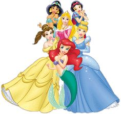 Disney Princesses Group Clipart.