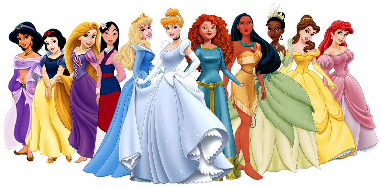 Disney Princesses Clipart.