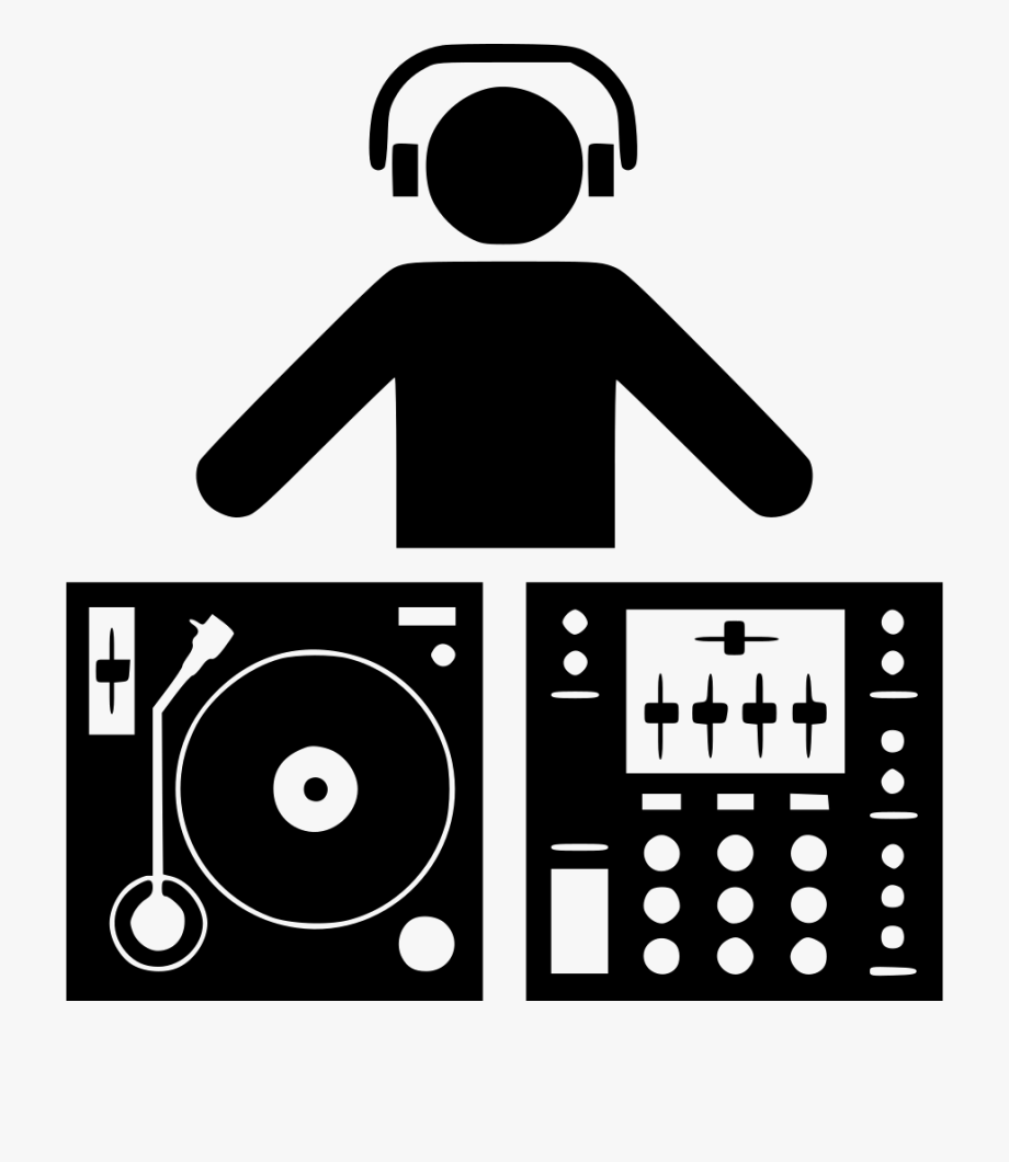 Dj Turntables Clipart.