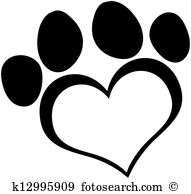 Dog paw print Clipart Vector Graphics. 4,492 dog paw print EPS.