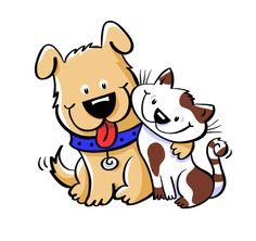 Clipart of dogs and cats together 4 » Clipart Station.