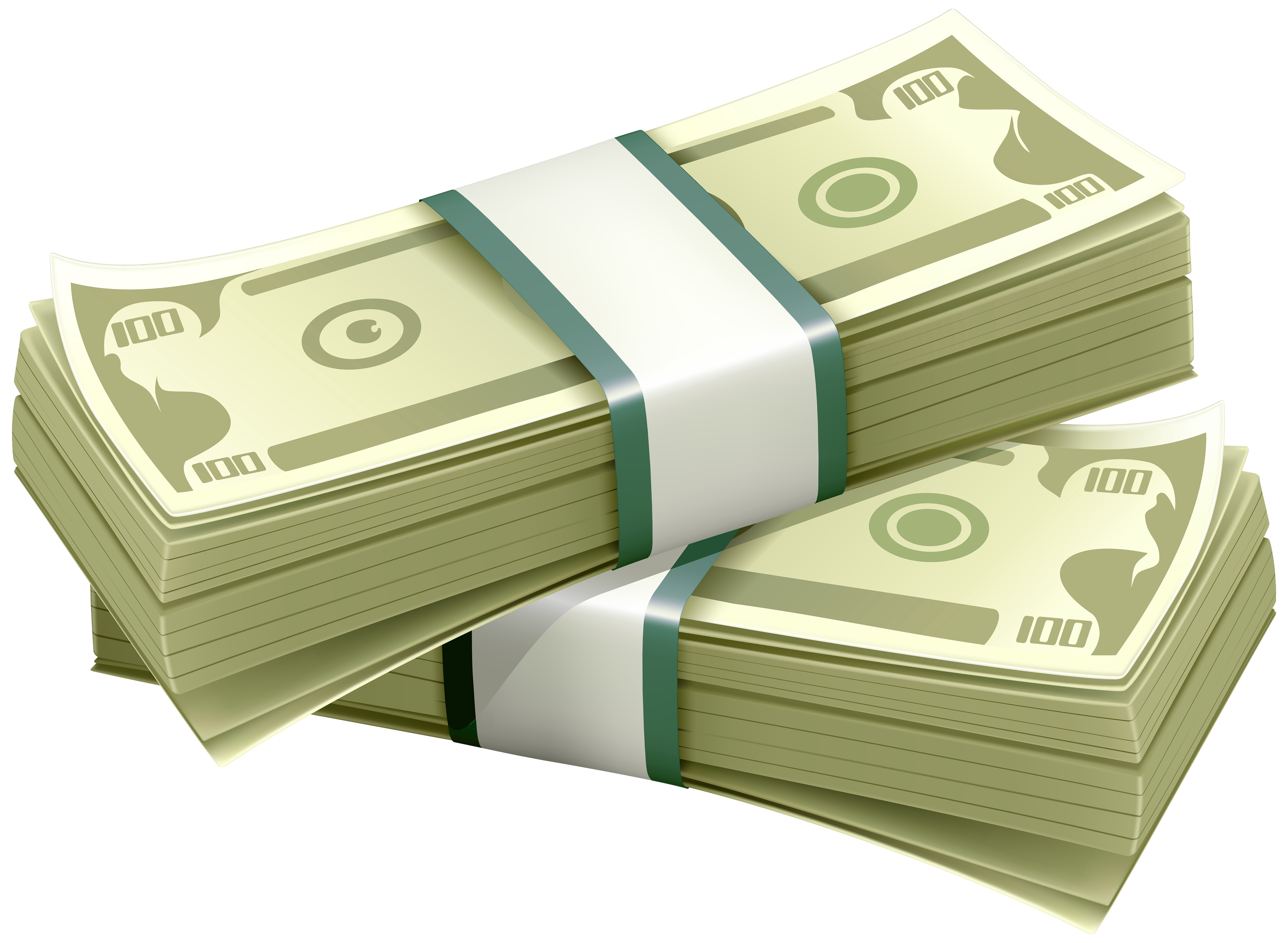 Wads of Dollars PNG Clipart.
