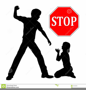 Stop Domestic Violence Clipart.