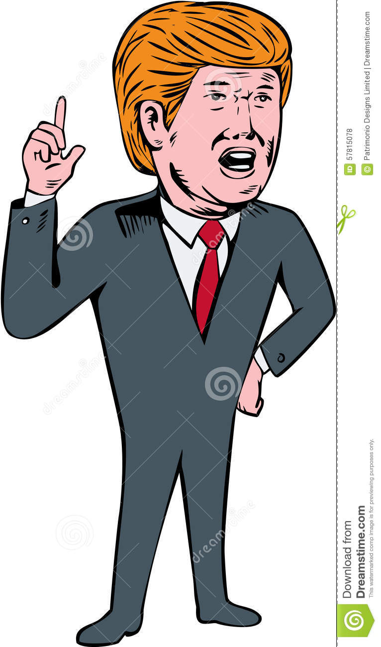 Donald Trump Cartoon Clipart.