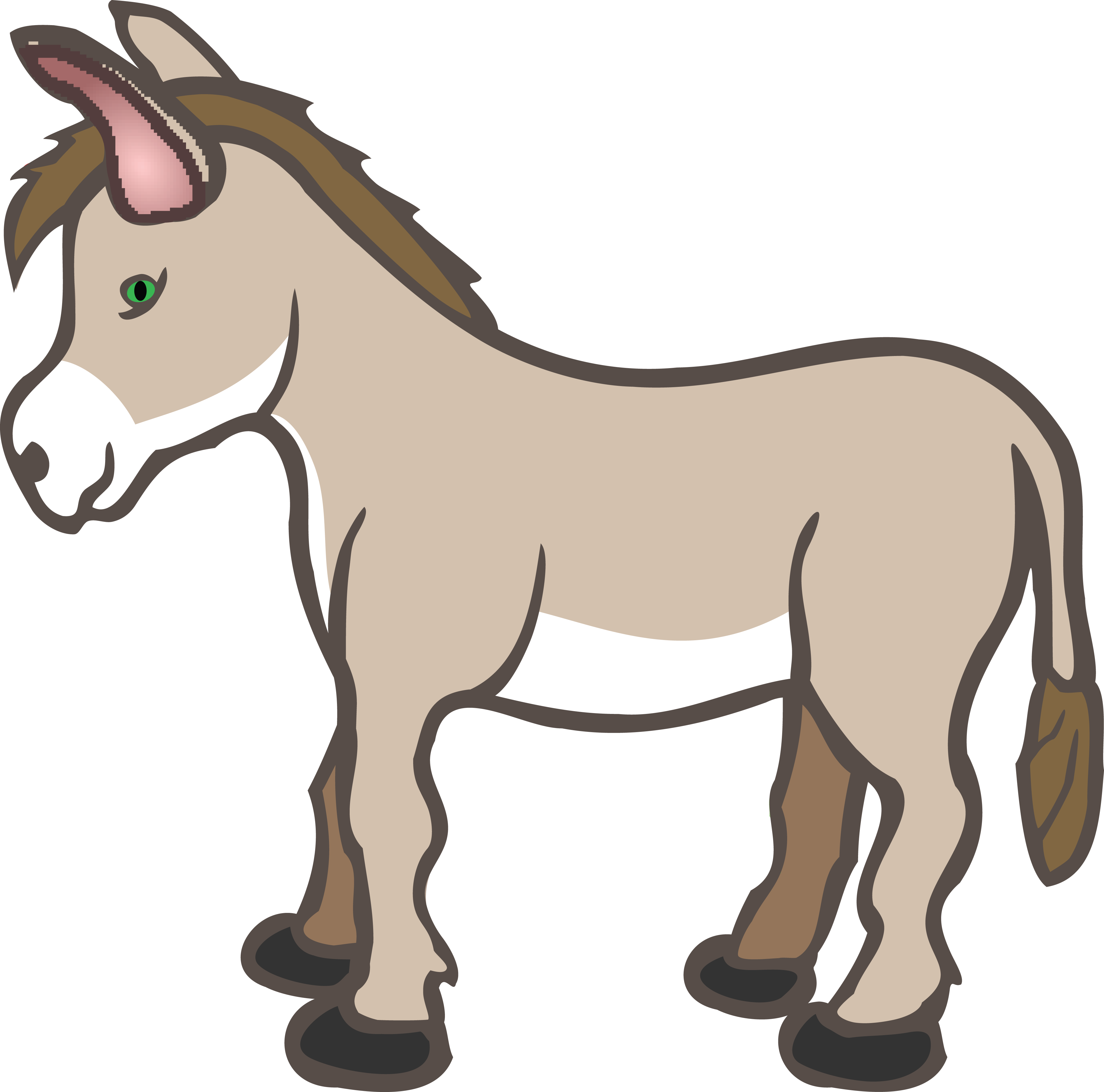 Clipart Of A Donkey.