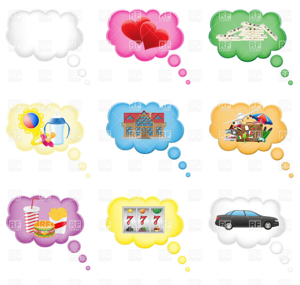 Dreams in the cloud Stock Vector Image.