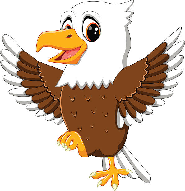 1822 Eagles free clipart.