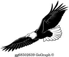 Flying Eagle Clip Art.