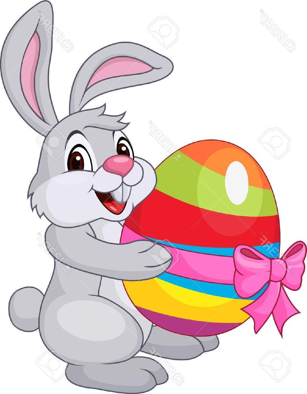 Cute Easter Bunny Clip Art #46587.