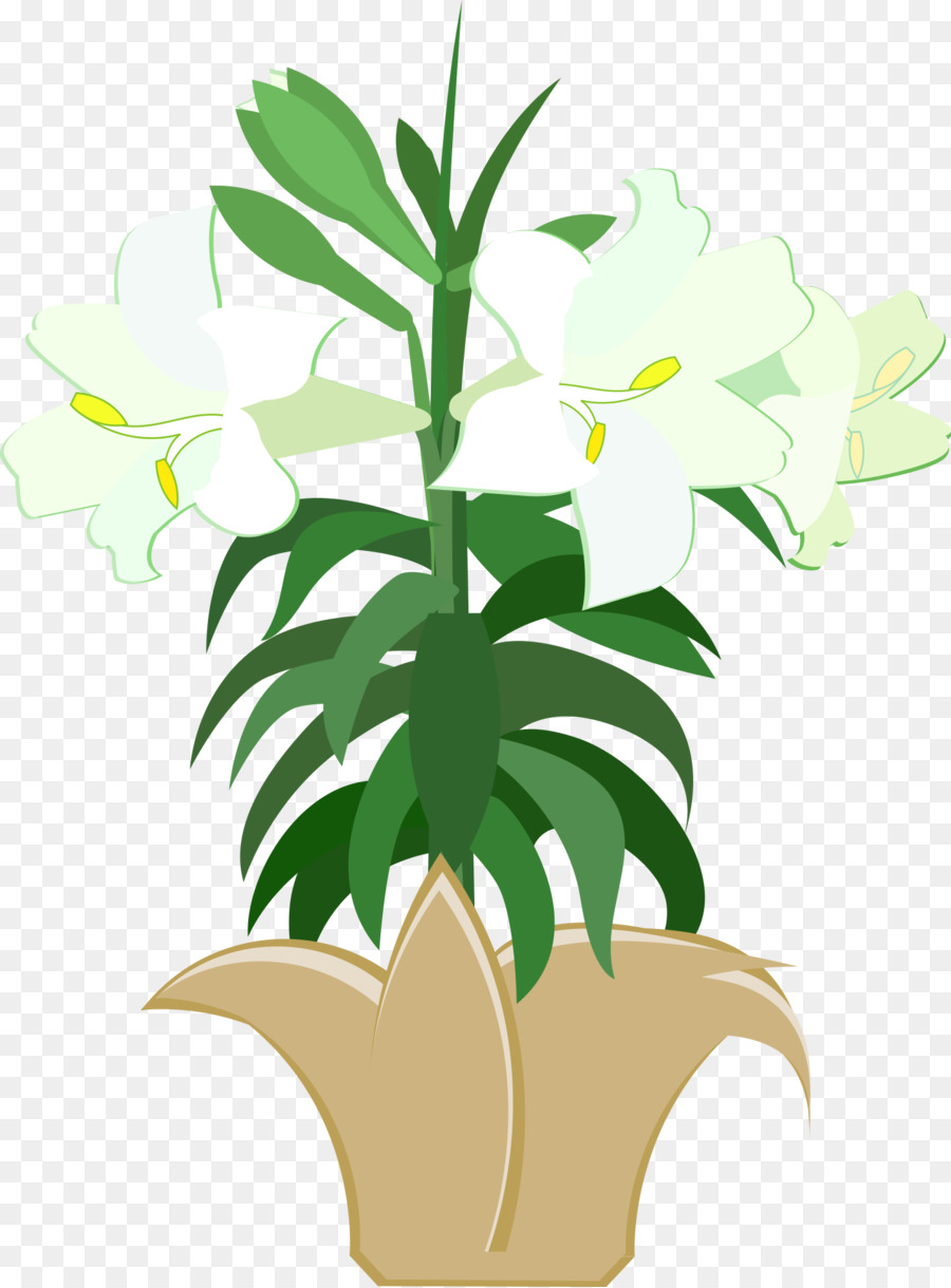 Easter Lily Background clipart.