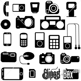 CLIPART ELECTRONIC ICONS SET.