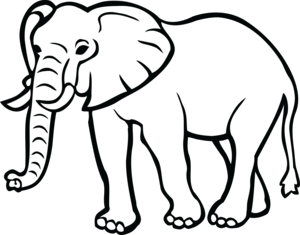 Elephant Clipart PNG Transparent.