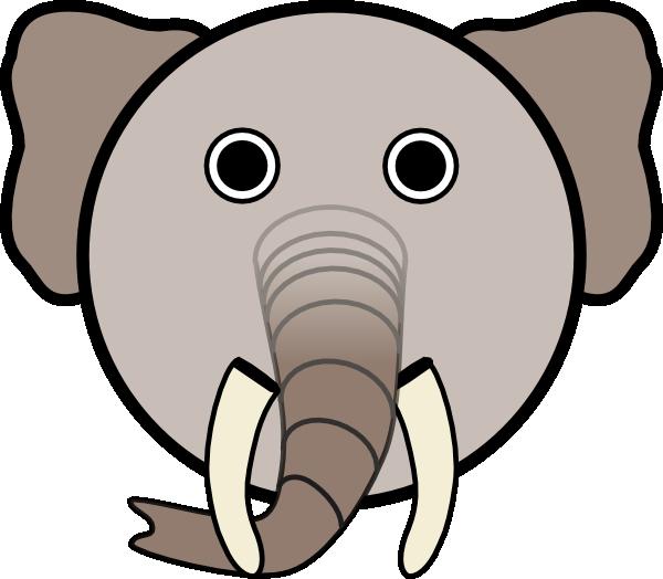 Elephant Face Clipart.