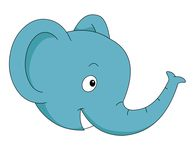 clipart of elephant face #13