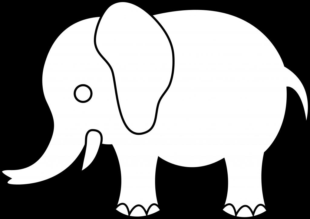 Elephant Outline.