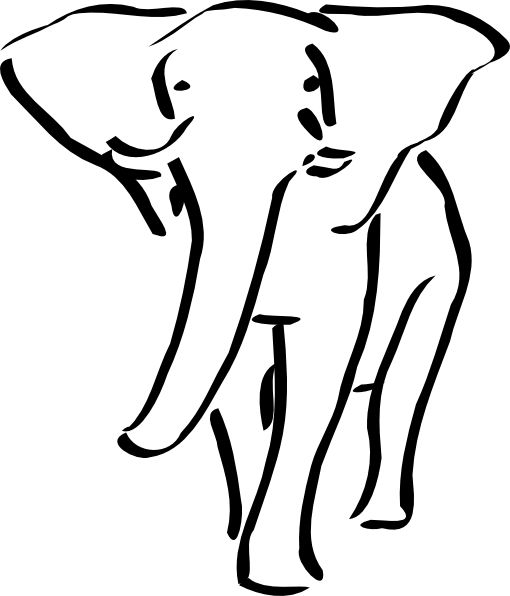 gold elephant clipart #16