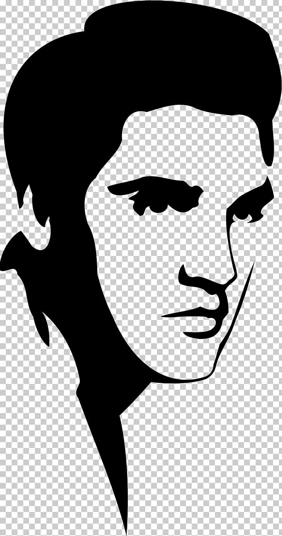 Elvis Presley Stencil Silhouette , ELVIS PNG clipart.