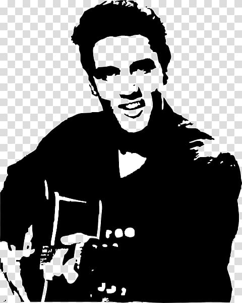 Elvis Presley Portrait Art Jailhouse Rock, Silhouette.
