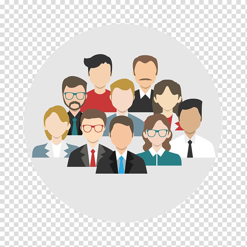 Group of people profile , Businessperson Company Management.