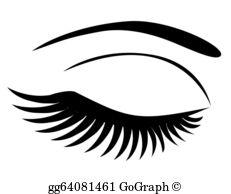 Eyelashes Clip Art.