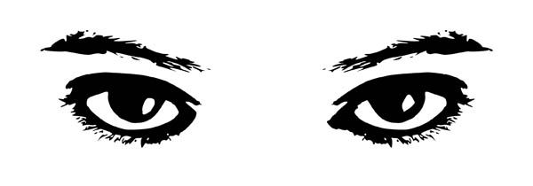 Eyes, : Eyes Watching Coloring Page.