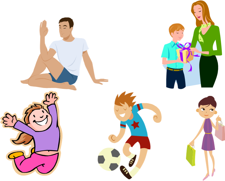 Exercising clipart family exercise, Exercising family.