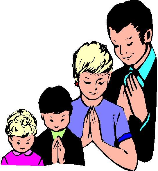 6634 Praying free clipart.