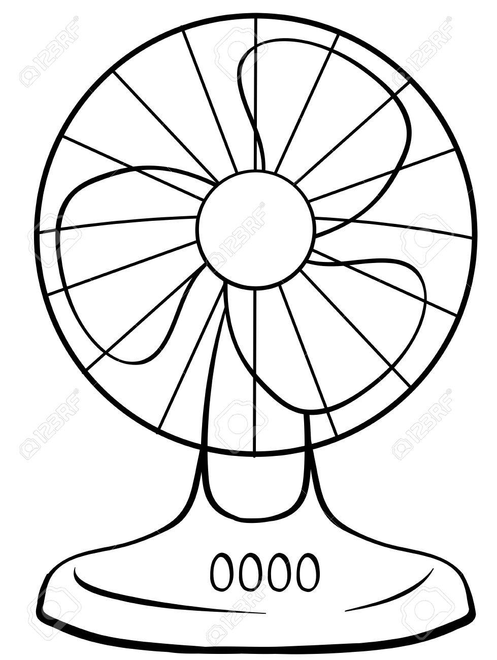 Close up electric fan with buttons.