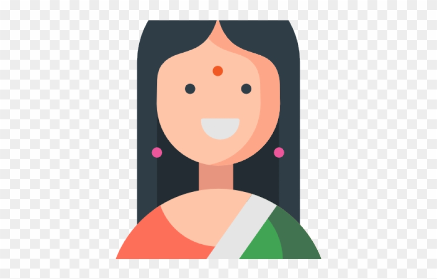 Headdress Clipart Female Indian.