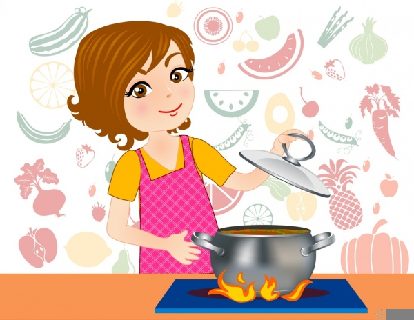 Free Clipart Female Cook.