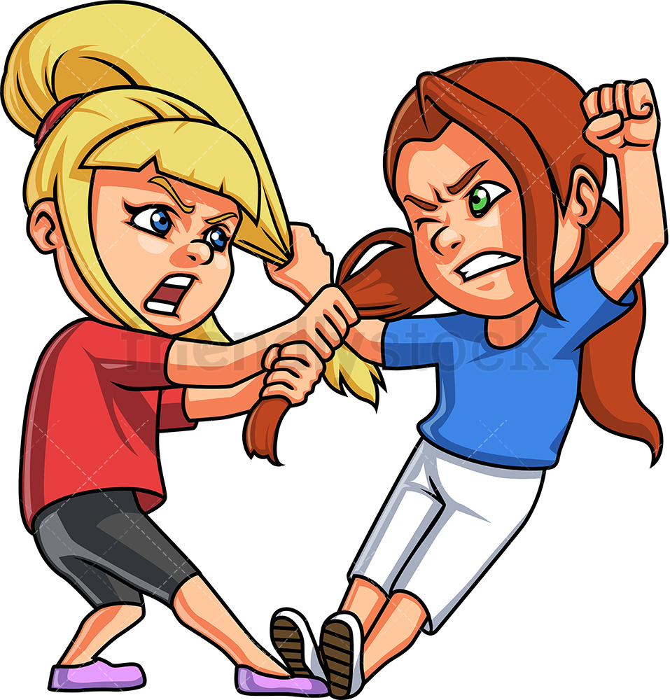 Little Girls Fighting.