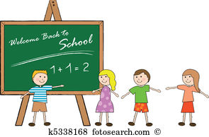 First day school Clip Art Vector Graphics. 433 first day school.