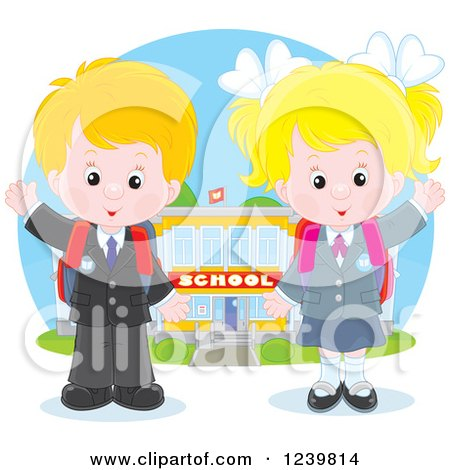 Royalty Free First Day Of School Illustrations by Alex Bannykh Page 1.