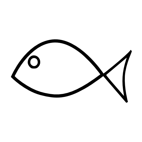 Fish Clip Art Black And White.
