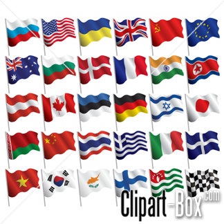 Flags Clipart, Flags Free Clipart.