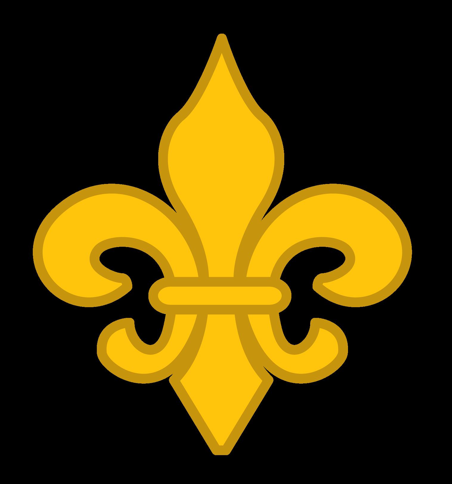 Simple Gold Fleur de Lis Clip Art.