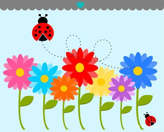 flower GARDEN clip art.