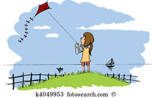Flying kite Clipart and Illustration. 1,924 flying kite clip art.