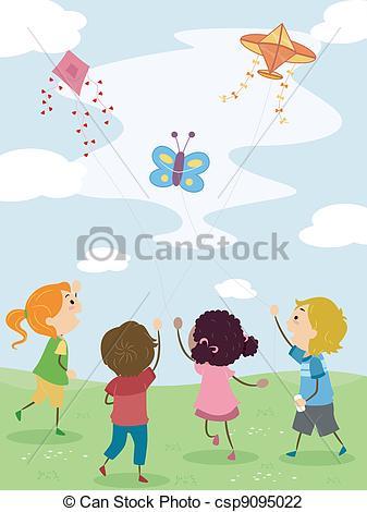 Flying kite Stock Illustrations. 2,355 Flying kite clip art images.