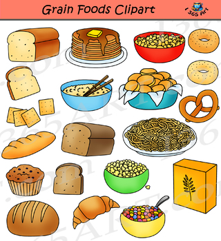 Grains and Breads Clipart Food Groups.