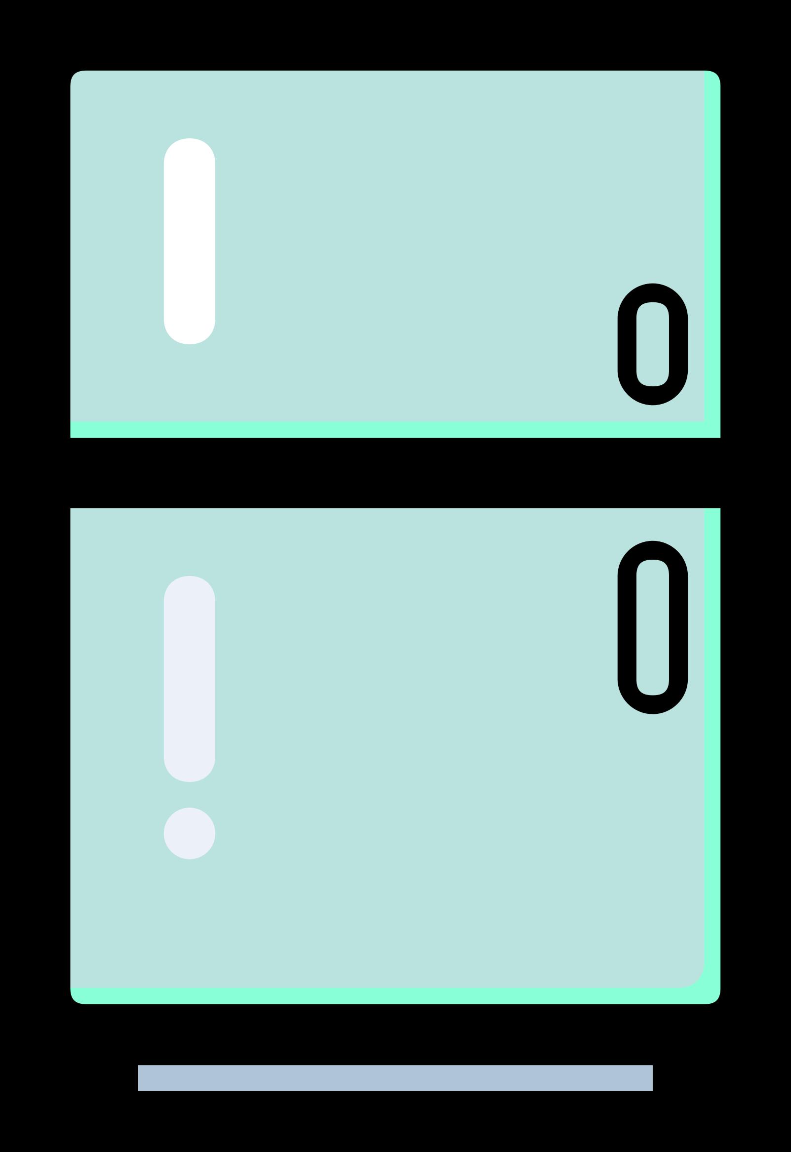 Refrigerator clipart printable, Refrigerator printable.