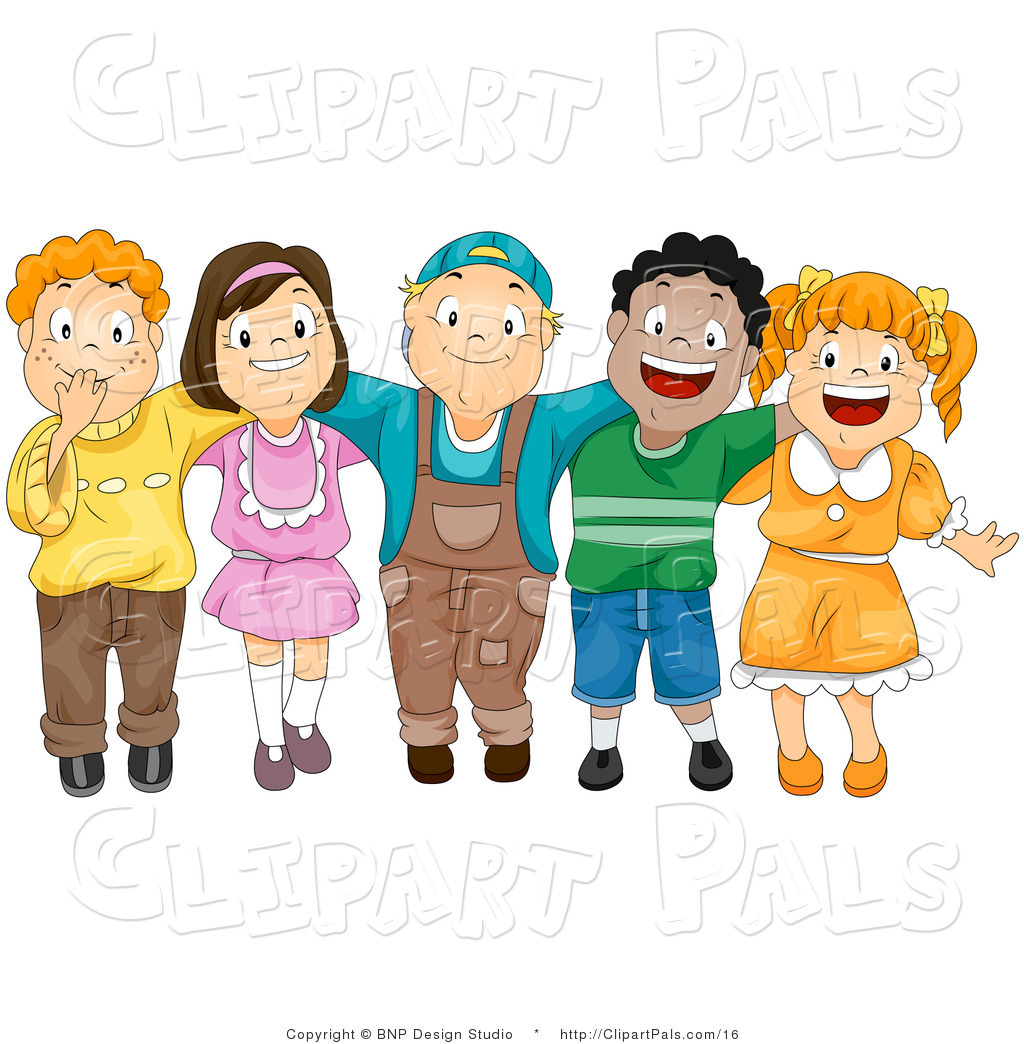 Group Of Friends Hugging Clipart.