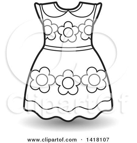 9424 Dress free clipart.