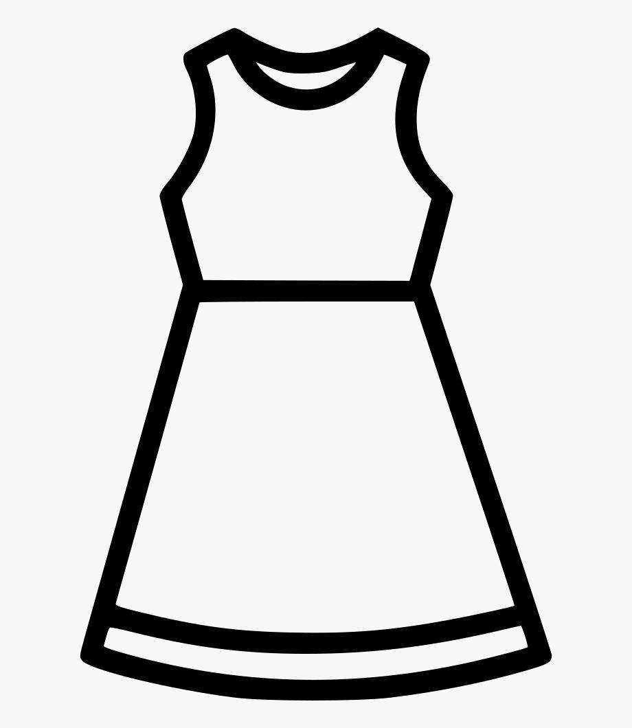 Cloth Dress Fashion Women Tunics Frock Svg Png Icon.
